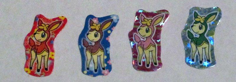 Deerling Holo Stickers