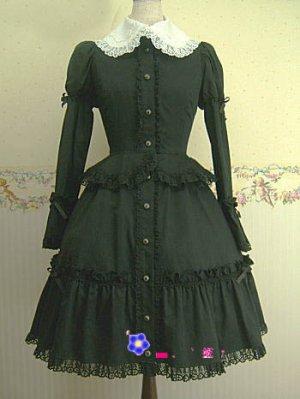 Gloomy black dress