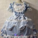princess party dress ( BLUE)