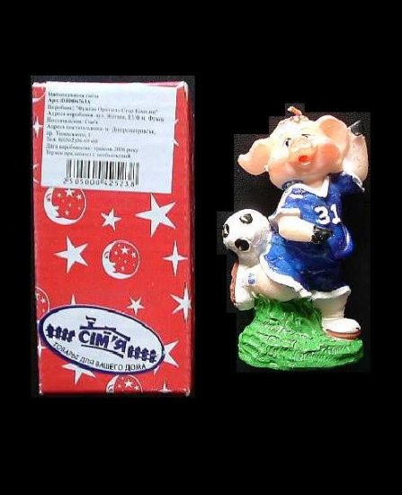 FOOTBALL PLAYING PIG IN LOOK LIKE CHELSEA NUMBER 31 SHIRT