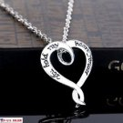 USA Fashion 925 Sterling Silver Chain Heart Shape Pendant Women Necklace