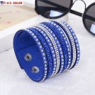 USA Fashion Charm Double Circle Multilayer Leather Bracelets For Men Women