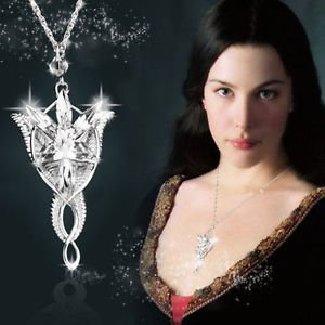 USA Vintage Fashion Arwen's Evenstar Necklace Lord Of The Rings Silver Pendant