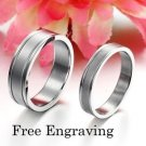 Custom Engraving 2PCS Stainless Steel Couple Ring Promise Wedding Rings Bands