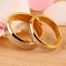 USA 2Pcs 18K Rose Gold Forever Love Couple Engagement Promise Wedding Ring Set