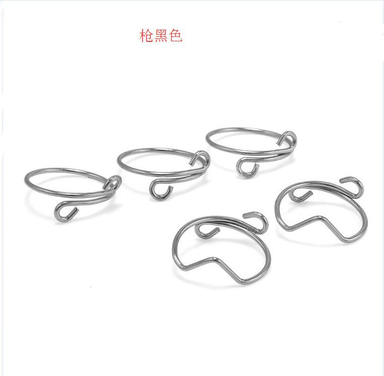 USA 5Pcs Set Fashion Women Silver Black Above Knuckle Finger Ring Band Midi Ring