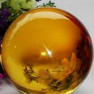 USA 40mm+Stand Asian Rare Yellow Magic K9 Crystal Healing Ball Sphere