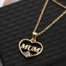 USA New Mother's day Mum Gift Jewelry Gold Plated Charm Pendent Necklace Chain