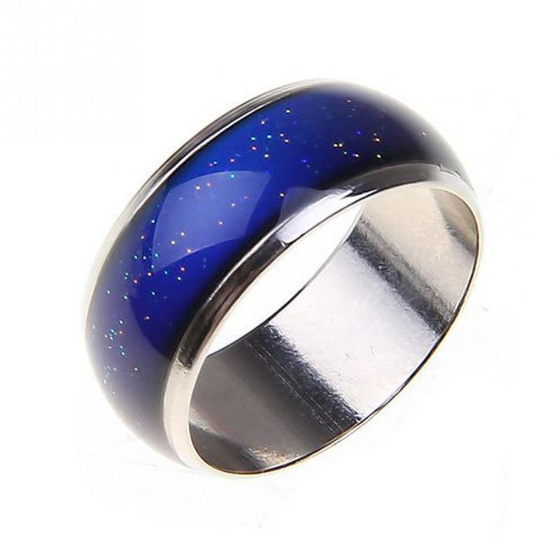 USA New Moon Shape Color Change Mood Ring Emotion Feeling Changeable Band