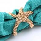 USA Fashion Retro Vintage Fashion Bronze Golden Alloy Sea Animal Starfish Ring