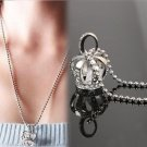 USA Charming Jewelry Crown Rhinestone Decoration Pendant Sweater Chain Necklace