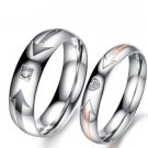 USA 2PCS You Are My Love Stainless Steel Couple Ring Promise Engagement Rings
