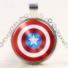 USA New Marvel Comics Captain America Shield Fashion Pendant Men Necklace