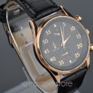 Luxury Stainless Steel Business Quartz Black Leather Wrist Watch Christmas Gifts