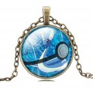 USA Pokemon Go Bronze Silver Chain Cabochon Dragonair Pokemon Pendant Necklace