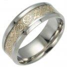 New Glow In The Dark Gold Dragon Ring Luminous Titanium Steel Rings Size 6-13
