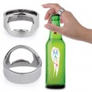 Beer Bottle Opener Ring Stainless Steel Metal Men Finger Thumb Beer Opener Rings