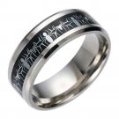 Silver Spiderman Black 316L Titanium Stainless steel Silver Promise Ring Band