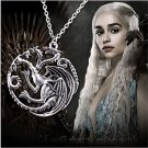 Vintage Game Of Thrones Targaryen Dragon Badge Pendants Chain Necklace Jewelry