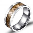 Gold Masonic Titanium Stainless steel Gold Carbon Fiber Silver Ring Band
