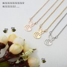 USA Cute Gold Silver Honey Bee Honeycomb Pendant Bumblebee Chain Necklace Gift