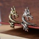 New Women Men Retro Charm Rings Bronze Silvery Dragon Ring Punk Exaggeration