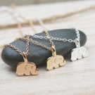 Simple Delicate Dainty Baby Elephant Necklace Elephant Charm Good Luck Jewelry