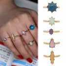 Fashion 5PCS/Set Fashion Women Girls Knuckle Midi Mixed Color Stone Ring Jewerly