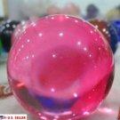 USA 40mm+Stand Asian Rare Natural Pink Magic K9 Crystal Healing Ball Sphere