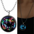 Magical Men Fairy Cool Tiger Glow in the Dark Stainless Steel Pendant Necklace