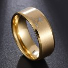 Gold Titanium Steel Dallas Cowboys Ring Football Men Band Size 6-13