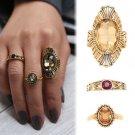 3PCS/Set Antique Vintage Women Gold Midi Stacking Knuckle Ring Jewerly Wedding