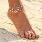 USA Infinity Love Womens Beauty Jewelry Pearl Charms Anklet Ankle Chain Bracelet