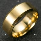 8mm Stainless Steel Ring Man Women Jewelry Band Gold Size 7-11