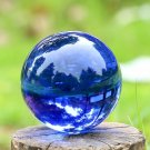 USA 40mm Rare Natural Blue Magic K9 Crystal Healing Ball Sphere +Stand