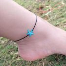 Boho Retro Blue Anklet Bracelet Beach Starfish Pendant Women Foot Jewelry