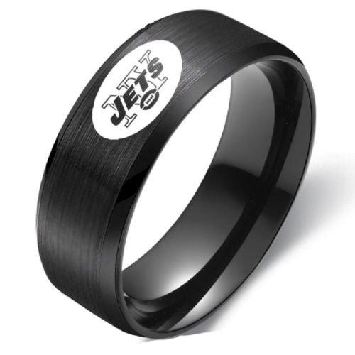 New New York Jets Stainless Steel Digital Engraved Men Football Ring Band