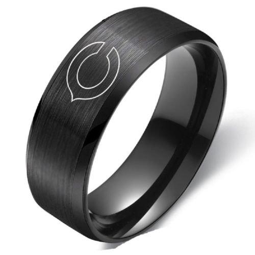 New Chicago Bears Stainless Steel Digital Engraved Men Black Football Ring Band