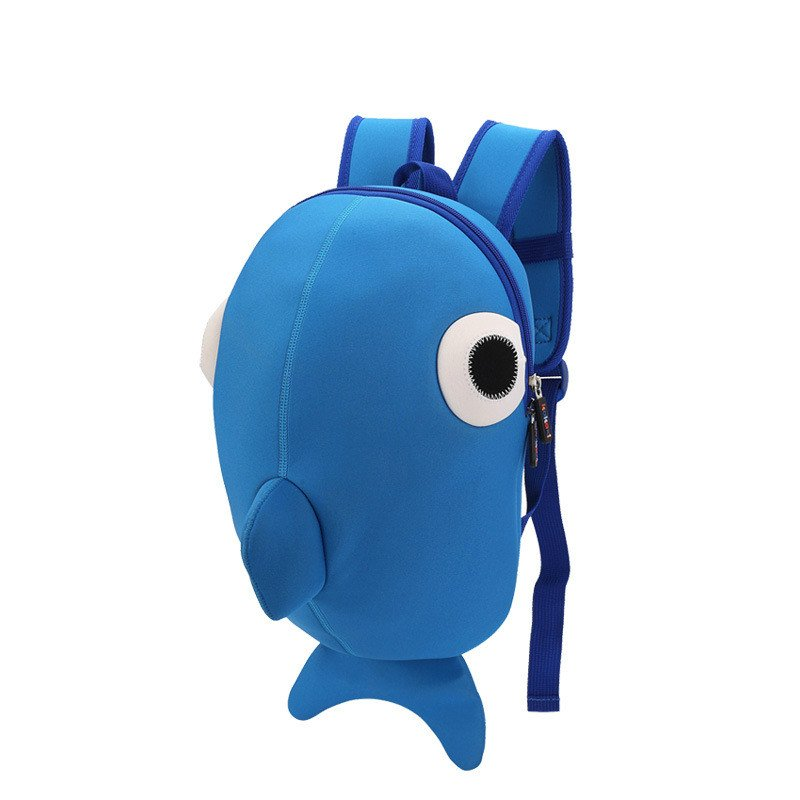 Personalization Kids Backpacks For Baby Boys Whale Unique Backpacks School Bags Blue