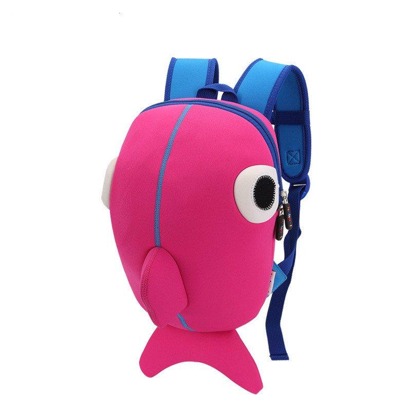 Kids Backpacks For Baby Boys Whale Backpacks School Bags Pink