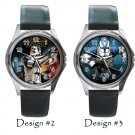 Star Wars Wristwatch Yoda Darth Vader Metal Leather Band Great Gifts
