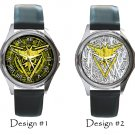 Team Instinct Pokemon Go Wristwatches Costume Metal Leather Band Watch