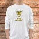 Team Instinct T-Shirts Men White Long Sleeve Pokemon Go Clothing