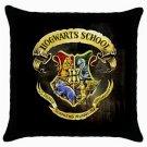 Harry Potter Throw Pillow Case 100% Cotton Hogwarts School Logo