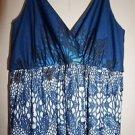 JC Penney Womens Maxi dress size S blue pattern NWT