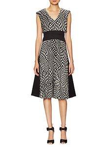 Tracy Reese Modern Malak black dress w/ houndstooth zipper accents sz 2 NWT $378