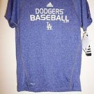 Mens Adidas Climalite dark blue short sleeve shirt LA Dodgers size M NWT