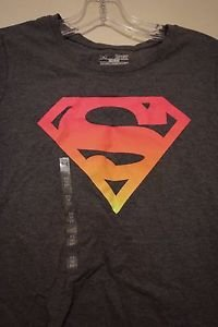 Womens Under Armour Alter Ego semi-fitted shirt Supergirl Ombre size S new