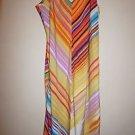 "Natori ""Loren"" multi-color stripe long gown choose size S or M new $125"