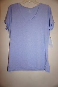 Gap Breathe V-neck shirt top short sleeve periwinkle color size L NWT